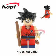 Single Sale Super Heroes Dragon Ball Z Figures Black Kid Goku SSJ3 Perfect Cell Bricks Building Blocks Children Gift Toys KF985