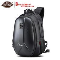 GHOST RACING Waterproof Motorcycle Bag Motorcycle Backpack Tank Bag Carbon Fiber Moto Motorbike Helmet Bags Travel Luggage #