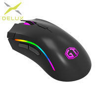 Delux M625 Gaming Mouse USB Wired Mouse 7 Buttons 12000DPI 12000FPS Optical USB Wired Desktop Mice RGB Backlit For game player