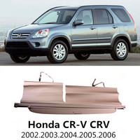 Car Rear Trunk Security Shield Cargo Cover For Honda CR V CRV 2002 2003 2004 2005 2006 High Qualit Black Beige Auto Accessories