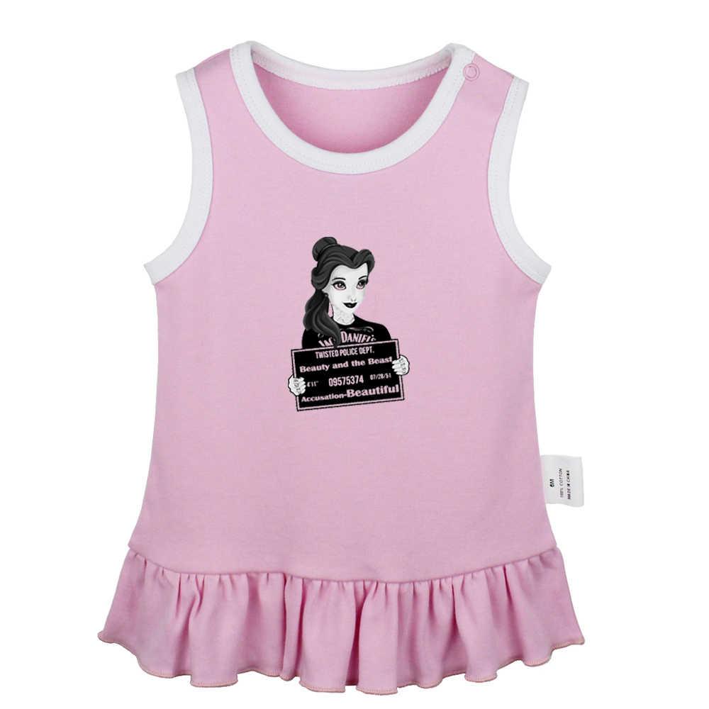 Gran hermana divertido ratón Capitán Jack Skateboard princesa bella recién nacido bebé niñas vestidos niño vestido sin mangas ropa infantil