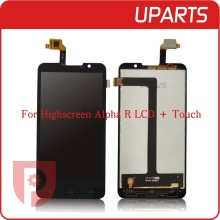 1 teile/los Neue Original Für Highscreen Alpha R LCD Display + Touch Screen LCD Digitizer Glasscheibe Ersatz