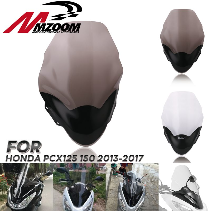Motorcycle ABS Windscreen Windshield Spoiler Air Wind Deflectors For Honda pcx 125 PCX125 150 2013-2017 Scooter Motorcycles PartMotorcycle ABS Windscreen Windshield Spoiler Air Wind Deflectors For Honda pcx 125 PCX125 150 2013-2017 Scooter Motorcycles Part