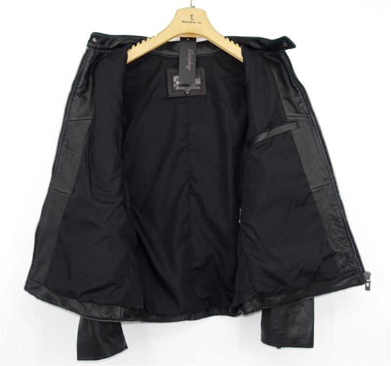 Highend mans echte koe lederen jas korte motorjas voor volwassen mannelijke vintage afwerking kort zwart plus oversized 4xl - 3