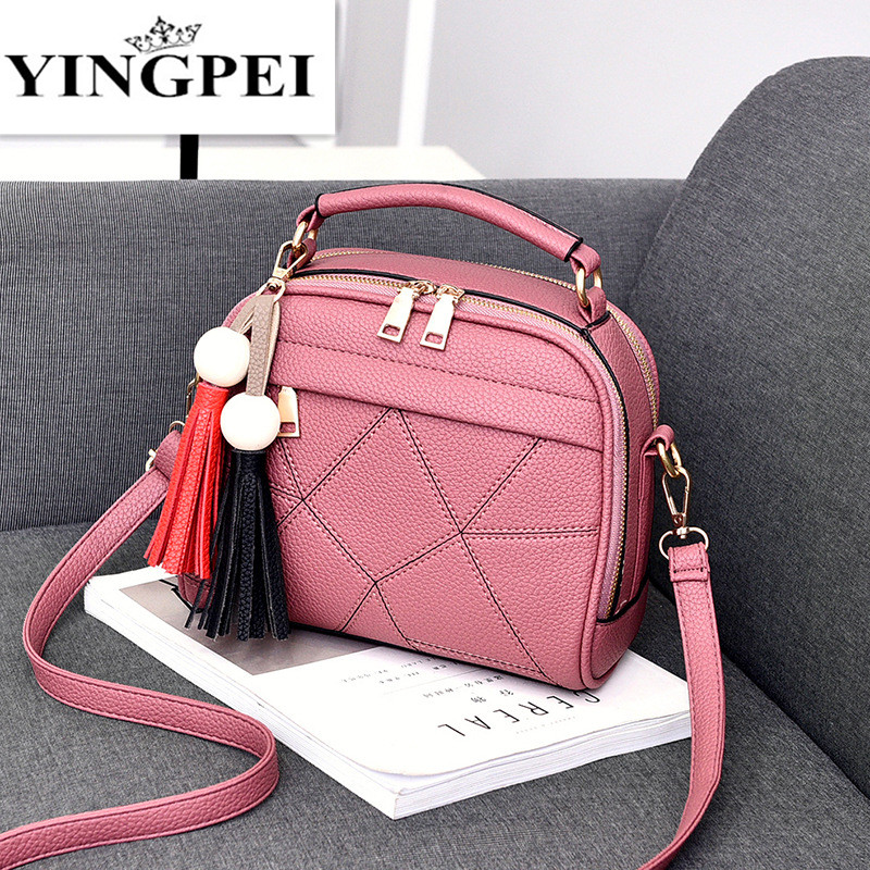 YINGPEI Women Message Handbag Fashion Shoulder Bags Small Casual Cross Body Bag Retro Totes Famous Brands Designer High Quality