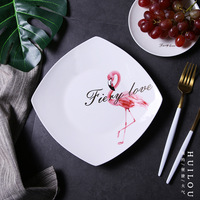 9 5Inch Porcelain Ceramic Dinner Plates White Porcelain Tray Dishes For Restaurant Serving Plate Dessert Food