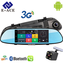 E-ACE Auto GPS Navigation Tracker Car Dvr 3G Wifi Camera 7″ Touch screen Android Navigators 1080P Video Recorder Rearview Mirror