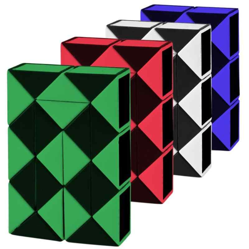 24 blöcke magie schlange 3D Magie Cube Twist IQ Logic Gehirn Teaser Spiel Spielzeug Puzzle Cube Geschenk für Kinder Magico cubo