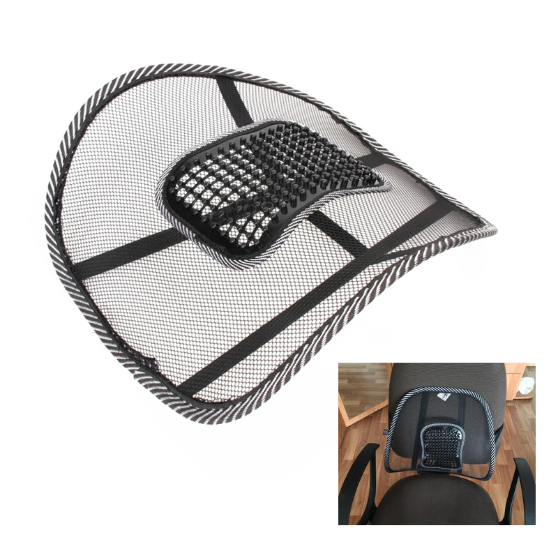 Bilsæde Comfort Mesh Lumbar Back Brace Support Office Home Bilsædestol Pude Cool Car Komfortabel Seat Support
