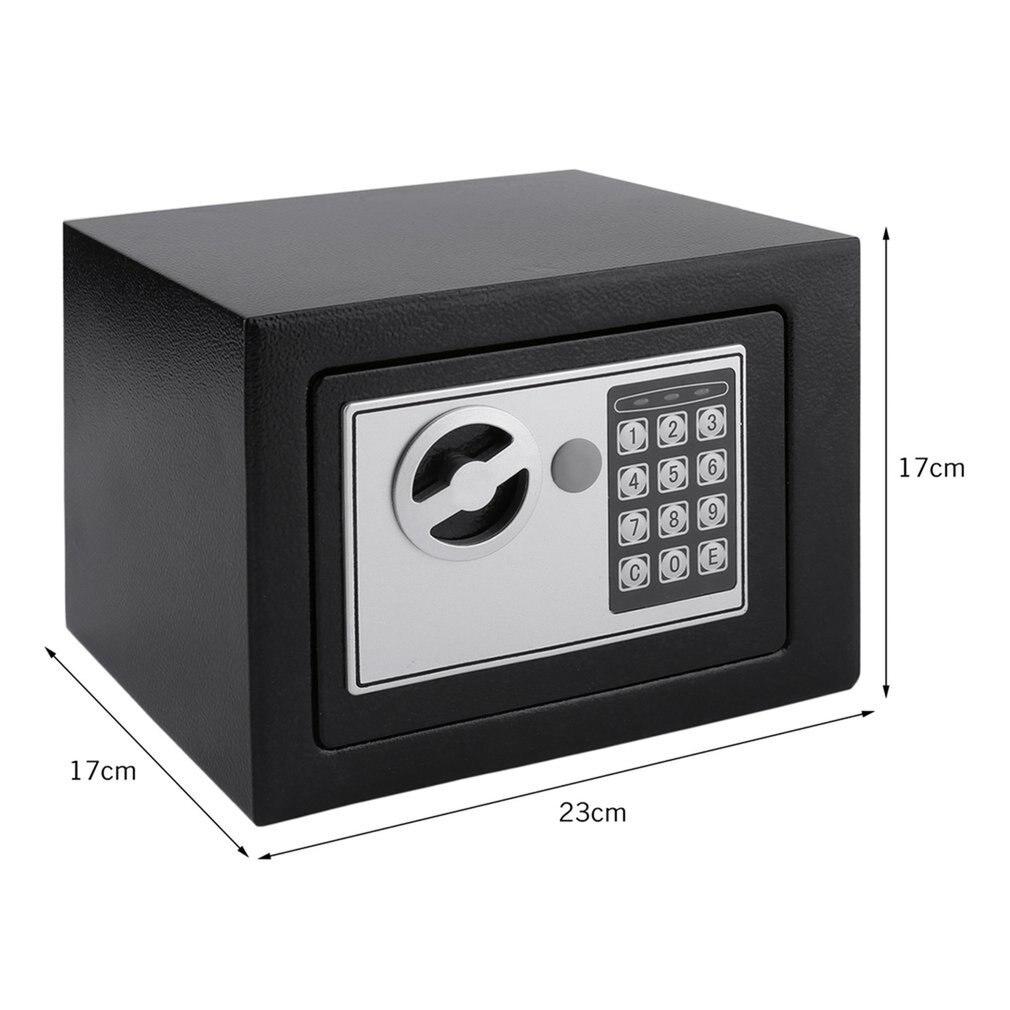 Купить с кэшбэком Solid Steel Electronic Safe Box With Digital Keypad Lock 4.6L Mini Lockable Jewelry Storage Case Safe Money Cash Storage Box