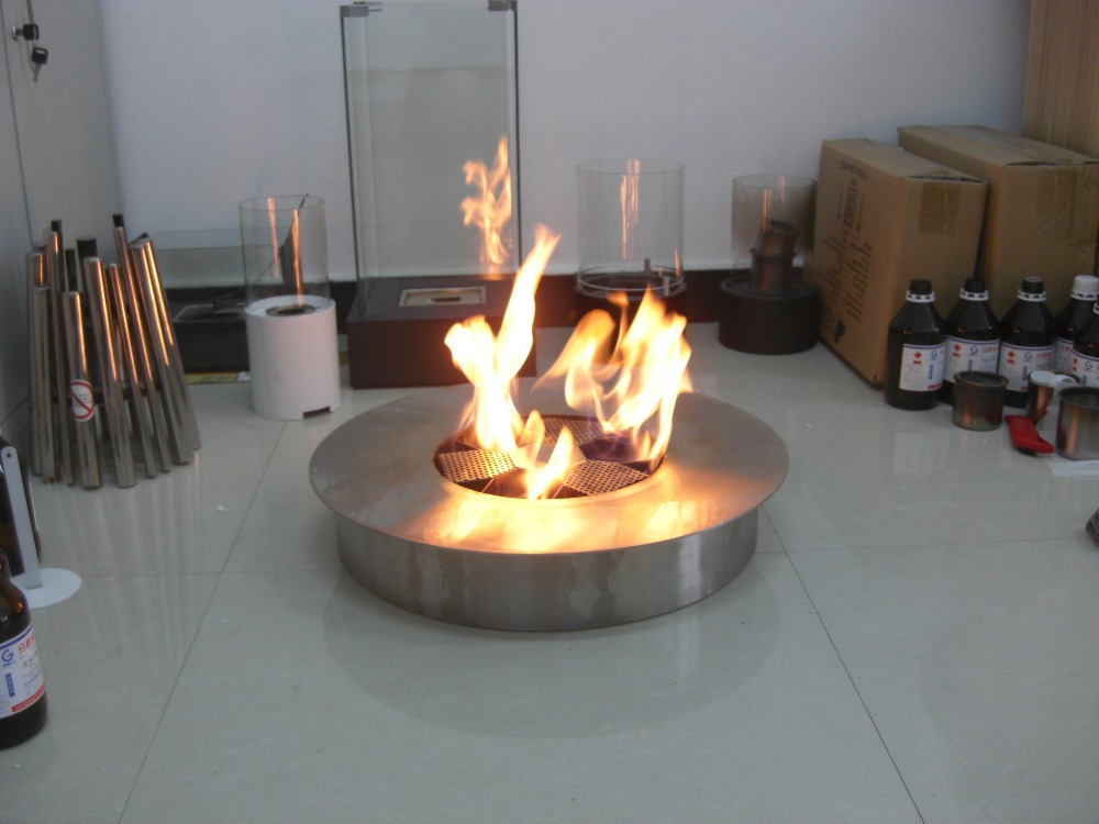 Inno Living Fire 8 Liter Stainless  Burner Round Ethanol Fireplace
