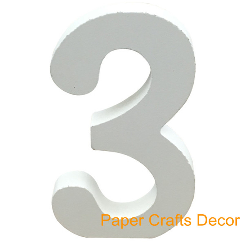 (1pc Only) 4inch=10cm DIY White Wooden Table Numbers Holder Tablescape Sign For Wedding Party Event