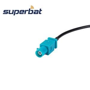 """Image 3 - Superbat Fakra כפול """"B"""" שקע כדי Fakra """"Z"""" תקע צם Jumper קואקסיאלי כבל Fakra B Z 30cm עבור רדיו עם פנטום"""