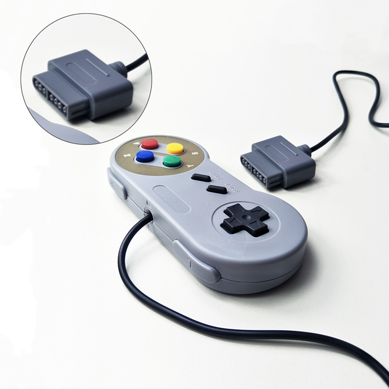 Image 3 - Computer host controller for SNES system console controller wired game console handle purple color two color buttons-in Gamepads from Consumer Electronics