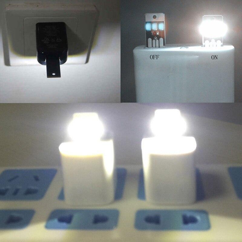 2018 New Bedroom Light Portable USB Led 2pcs Mini LED Lights One-sided Pocket Card Lamp Portable Bulb Led Keychain