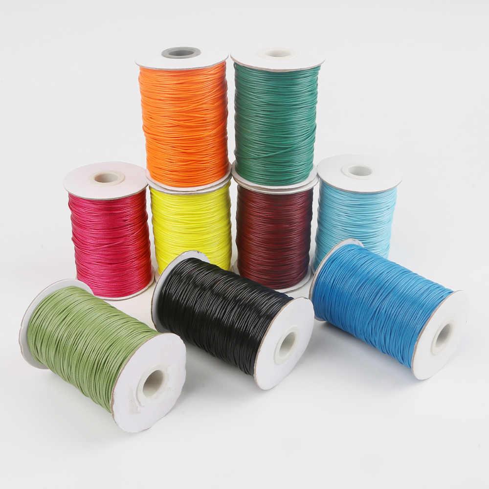 5-15meter 1mm 1,5mm 2mm Gewachste Baumwolle Schnur Gewachst Gewinde Schnur String Strap Halskette Seil perle Für Schmuck Machen DIY Armband
