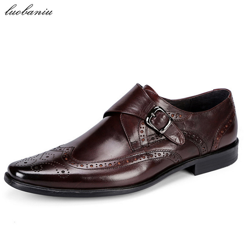 Genuine Leather Oxfords Shoes For Men Dress Shoes Top Quality Formal Men Shoes top quality crocodile grain black oxfords mens dress shoes genuine leather business shoes mens formal wedding shoes