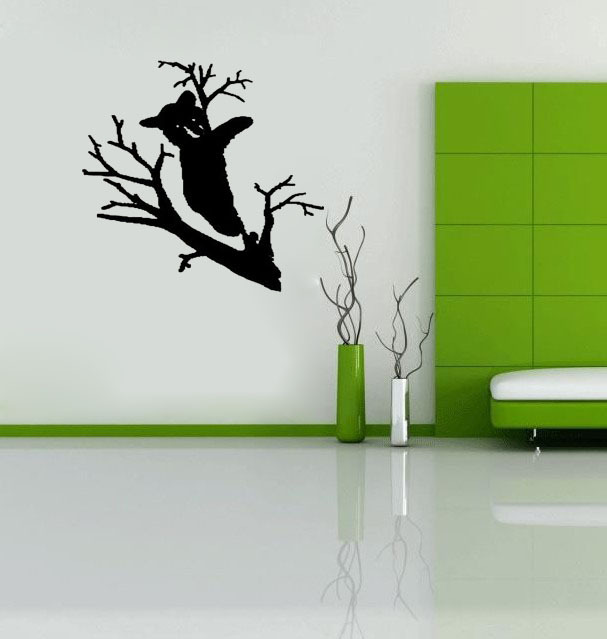 Bear in tree decal cute outdoor wall decals vinyl stickers home decor living room decorative wallpaper