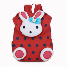 Cute Rabbit Shaped Soft Canvas Toddler's Backpack