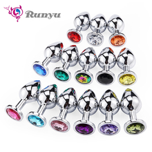 Runyu Toys for Adults Plug Anal Sex Metal Butt Plug With Jew