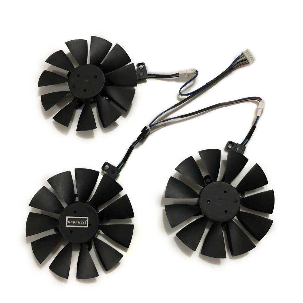 90MM(85MM) PLD09210S12HH T129215SU VGA GTX1080TI GTX1070 Graphics Cooler Fan For ASUS GTX 1080TI/980Ti/1070TI VGA Cards Cooling