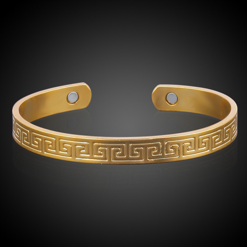 Street shooting star with Gold Color female anti fatigue health bracelet Great Wall classic hand jewelry magnetic lines
