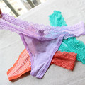 Underwear Women Plus Size Sexy Lingerie Striped Thongs and G String Lace Panties T-back Seamless String G-string PM036