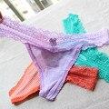 Underwear talles para las mujeres lencería sexy tangas y g cuerdas de rayas bragas de encaje t-back seamless tanga pm036