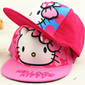Children Fashion Kids Cute Cartoon hello kitty Princess Pink Hat Summer Baseball Caps Adjustable Hip Hop Snapback Girl Flat Hat