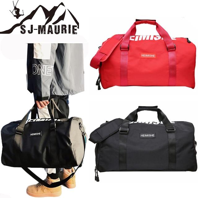 Black Red Sports Training Gym Bag Bolsa Deporte Hombre Fitness Bags Durable Multifunction Handbag Outdoor Bag for Sport
