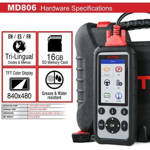 Image 2 - Autel MD806PRO Car Diagnostic Diagnostic AutoTool OBD2 Scanner Full System Code Reader better than LaunchX431 Autel MD805/MD802