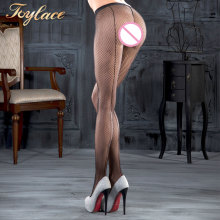 Toylace 9004 Black Back Seam Fishnet Pantyhose