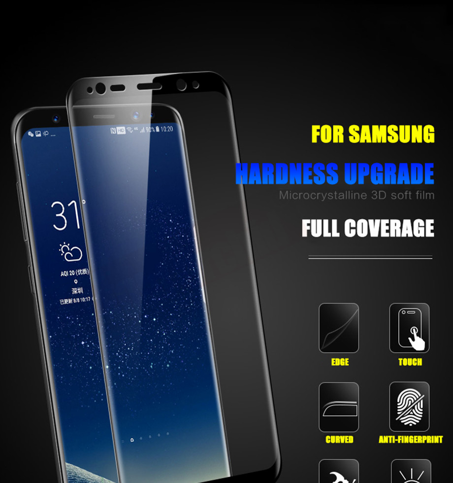 1-PC-For Samsung Galaxy S8 Tempered Glass For Samsung Note 8 S9 Screen Protector Film