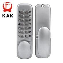 KAK Çinko Alaşım Anahtarsız Kombinasyonu Mekanik Dijital Kapı Kilidi Ev Mobilya Donanım Için Hiçbir Güç Push Button Kodu Kilitler