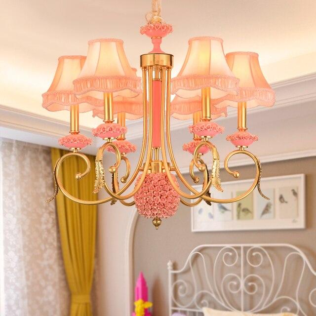 Modern European Style All Copper Ceramic Chandelier Nordic Villa Children S Bedroom Chandeliers