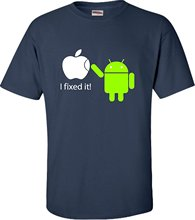 Adult I Fixed It Android Fixes Apple Funny Tech Geek T-Shirt