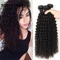 """Peruvian Virgin Hair Kinky Curl Human Hair 4 Bundles 8""""-28"""" Grade 10A Peruvian Kinky Curly Queen Hair Products Hair Bundles"""