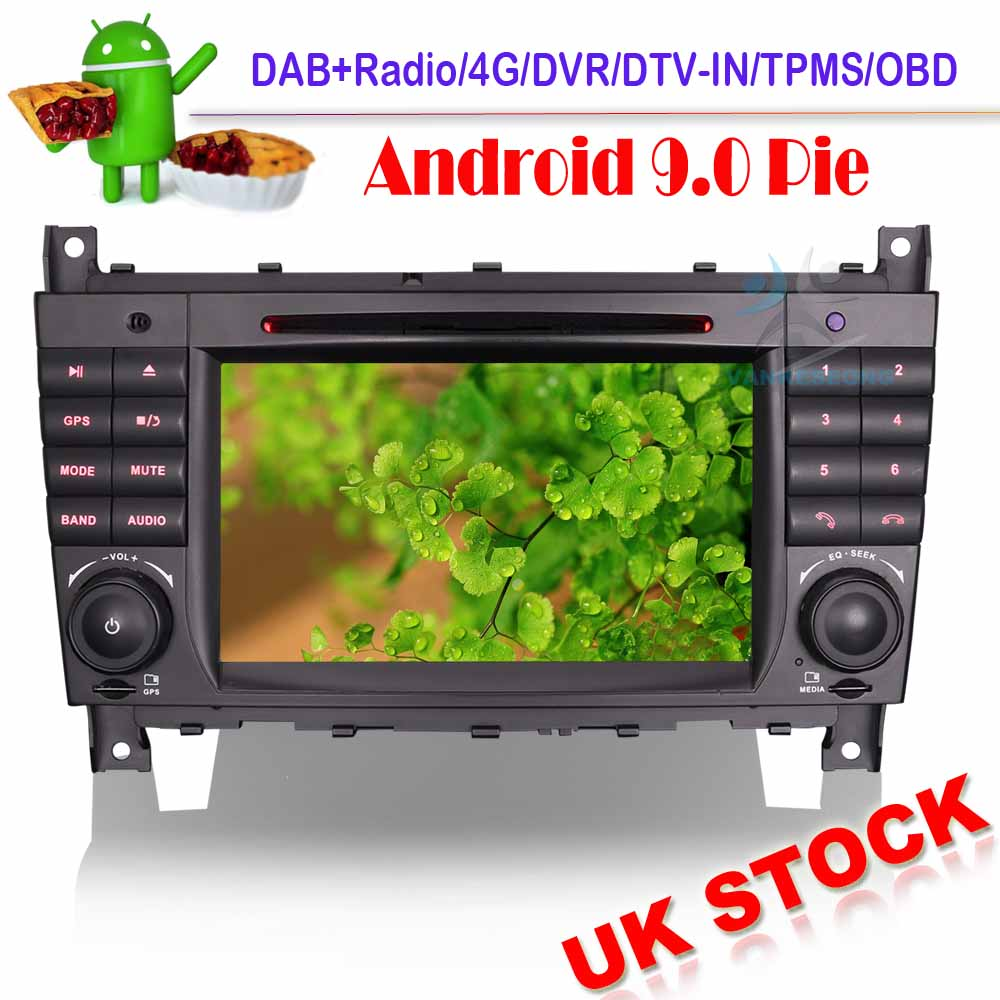 Car stereo Android 9.0 Autoradio Sat Nav WIFI DVD for Mercedes C/CLC/<font><b>CLK</b></font> Class W203 <font><b>W209</b></font> GPS BOD <font><b>Radio</b></font> DVT-IN image