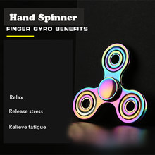 Fidget Hand Spinner Metal Triangle Torqbar Zinc Alloy Puzzle Finger Toy EDC Focus Fidget Spinner ADHD Austim Super Fast Toy(China)