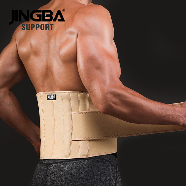 JINGBA SUPPORT mens waist trimmer Weight Loss slimming belt neoprene fitness belt back waist support Sweat belt waist trainer 3