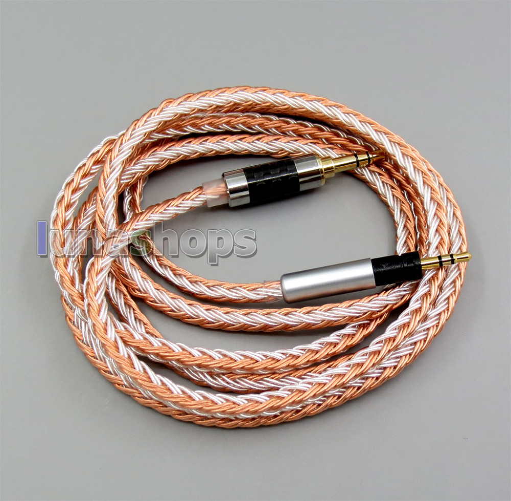 3 5mm 16 Cores OCC Silver Plated Mixed Headphone Cable For Sennheiser Momentum 1 0 2