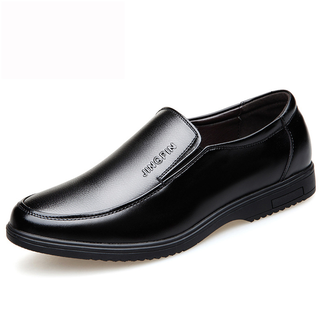 Men Dress Shoes Spring Leather Brand Fashion Social Comfortable Office Ms8107007