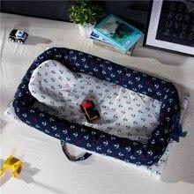 90*55 см, портативная бионическая кровать для малышей, хлопковая колыбель, детская люлька, бампер, складное гнездо для сна для новорожденных, игровой коврик, дорожная кровать
