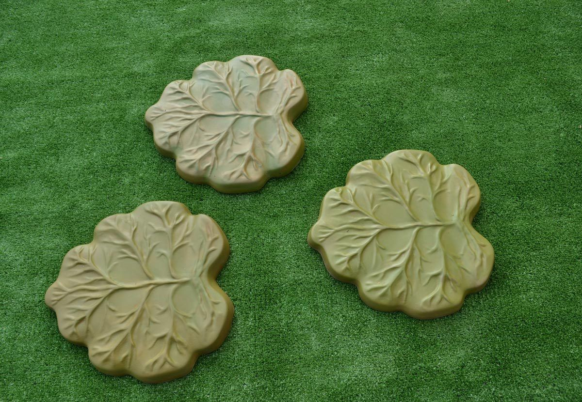 reusable garden path road walk diy stone maker leafs stepping stone mold concrete mould cement molds - Decorative Stepping Stones