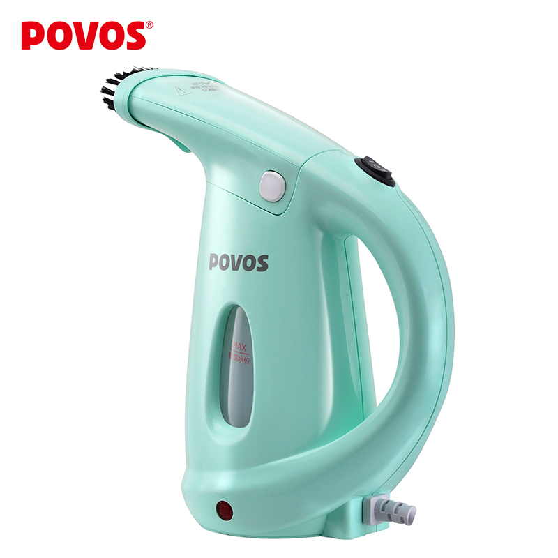 ФОТО POVOS Electric Machine For Clothe  Mini Hanging iron Garment Steamer 2 in 1 Face Steamer for Woman Facial Spa Beauty Skin PW530