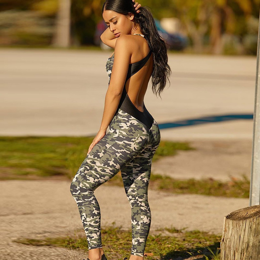 Fitness Jumpsuit For Women Workout Clothes Strap Playsuit Excise