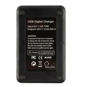 Image 2 - Mijia 4K batterie double chargeur de Batteries 3 fentes LCD chargeur de batterie pour Xiaomi Mijia Mini Action sport caméra accessoires