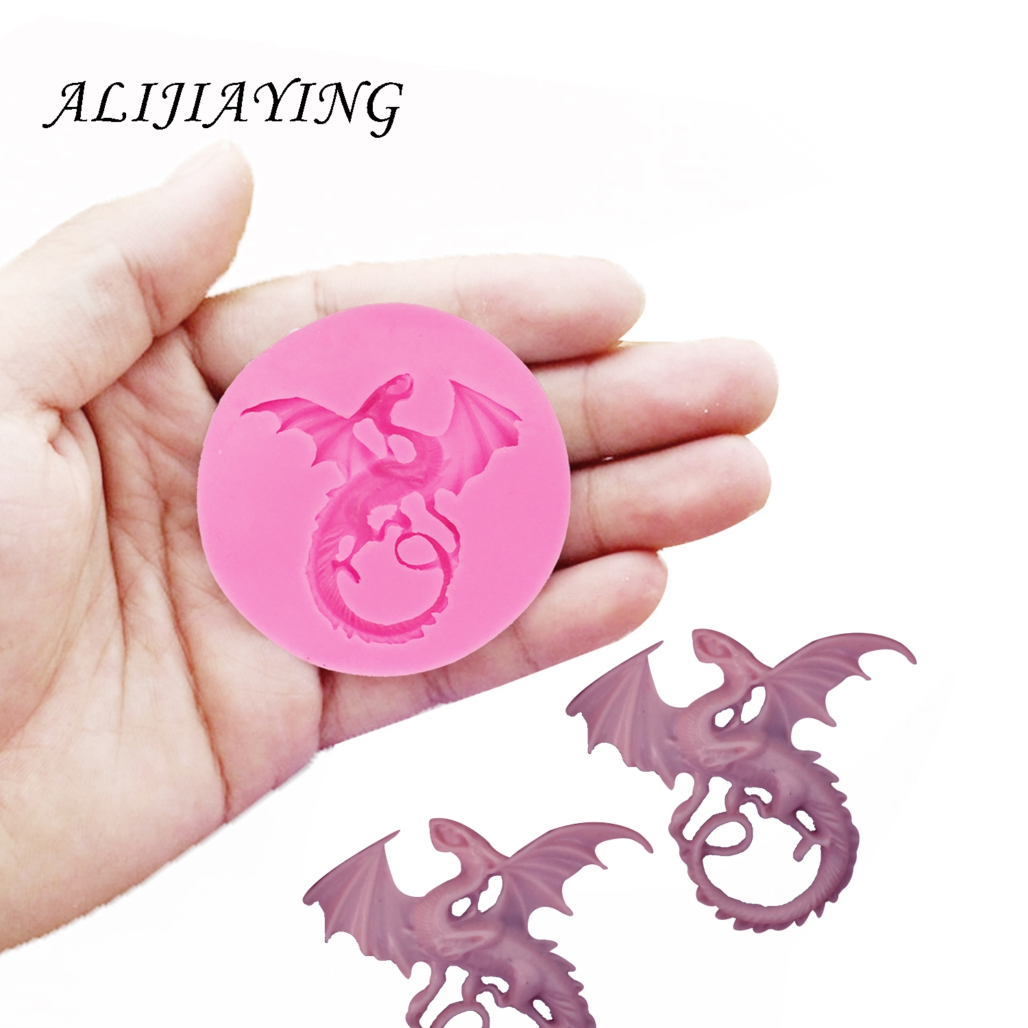 Cartoon Flying Dragon Silicone Molds For 3D Crafts Cake Decorating Tools Fondant Chocolate Molds Sugarpaste Bakeware DY0043