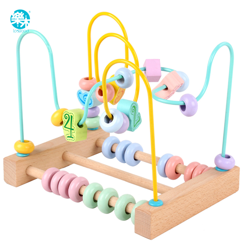Baby Toy Around Beads Math Toy Counting Numbers Beads Monterssori Game Kids Educational Wooden Toys For Children Gifts