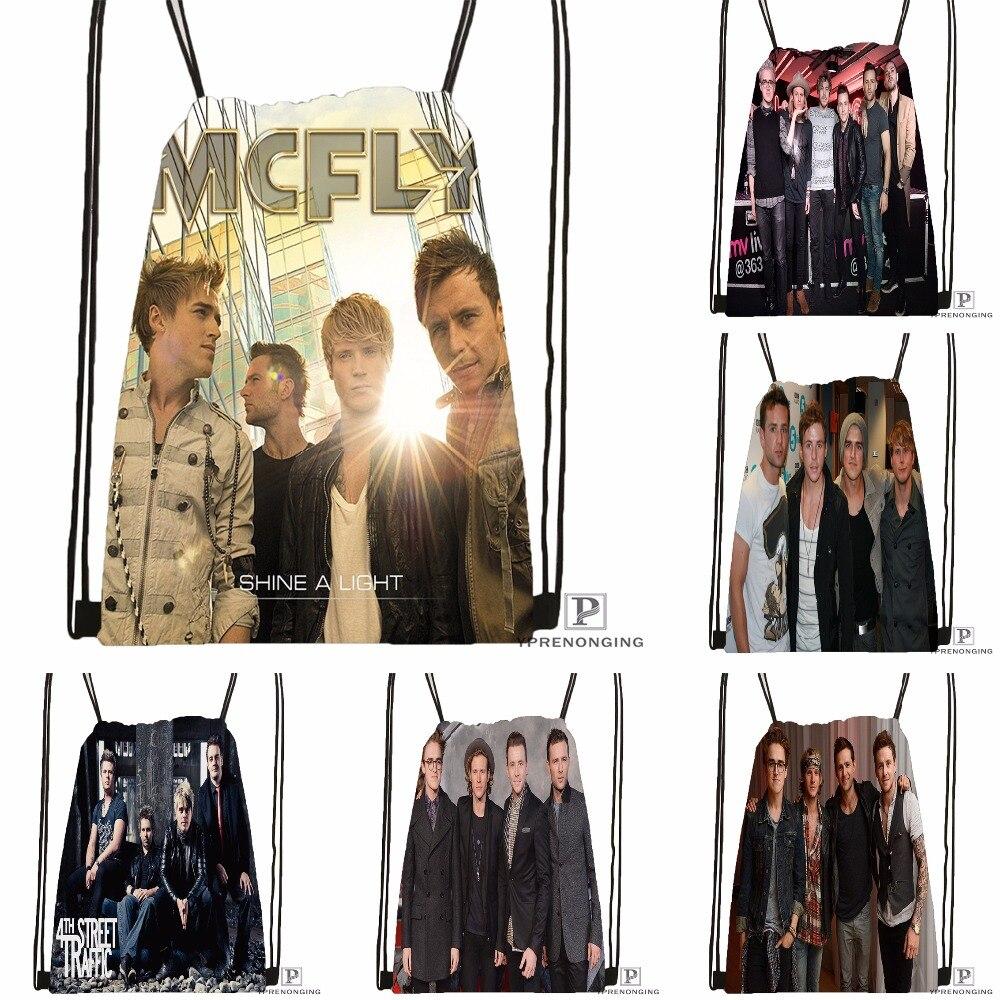 Custom McFly Love Is Easy Drawstring Backpack Bag Cute Daypack Kids Satchel (Black Back) 31x40cm#180531-03-69